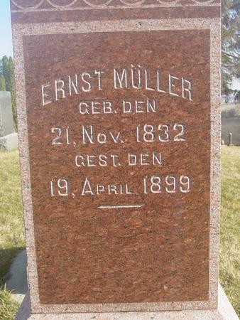 MULLER, ERNST - Scott County, Iowa | ERNST MULLER