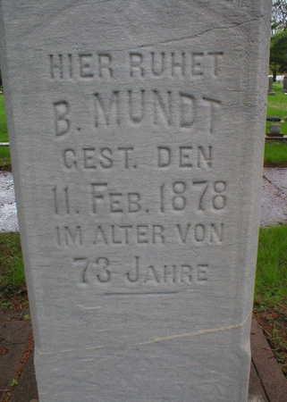 MUNDT, B. - Scott County, Iowa | B. MUNDT