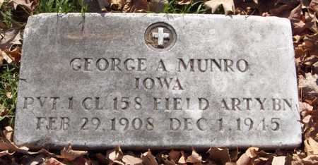 MUNRO, GEORGE A. - Scott County, Iowa | GEORGE A. MUNRO