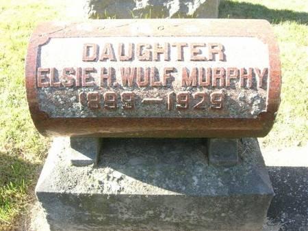 WULF MURPHY, ELSIE H. - Scott County, Iowa   ELSIE H. WULF MURPHY