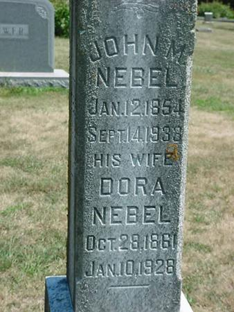 NEBEL, DORA - Scott County, Iowa | DORA NEBEL