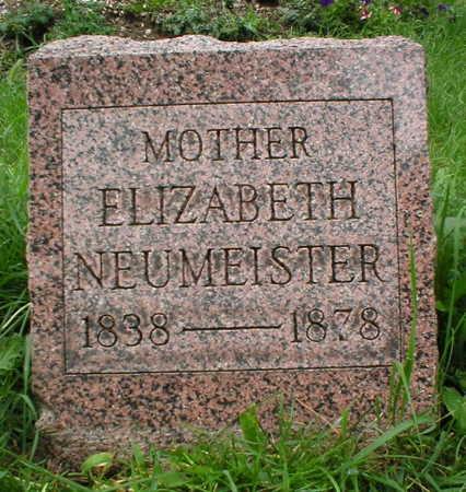 NEUMEISTER, ELIZABETH - Scott County, Iowa | ELIZABETH NEUMEISTER