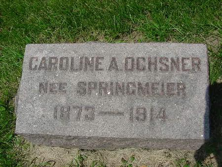 OCHSNER, CAROLINE A. - Scott County, Iowa | CAROLINE A. OCHSNER