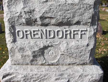 ORENDORFF, FAMILY MONUMENT - Scott County, Iowa | FAMILY MONUMENT ORENDORFF