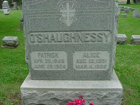 O'SHAUGHNESSY, ALICE - Scott County, Iowa | ALICE O'SHAUGHNESSY
