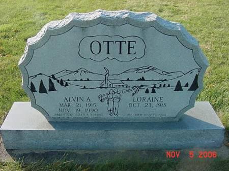 OTTE, ALVIN A - Scott County, Iowa   ALVIN A OTTE