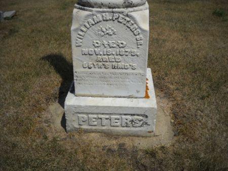 PETERS, WILLIAM  H. - Scott County, Iowa | WILLIAM  H. PETERS