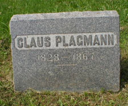 PLAGMANN, CLAUS - Scott County, Iowa | CLAUS PLAGMANN