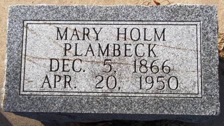 PLAMBECK, MARY HOLM - Scott County, Iowa | MARY HOLM PLAMBECK