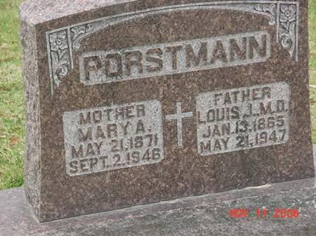 PORSTMANN, MARY A - Scott County, Iowa   MARY A PORSTMANN