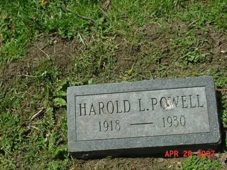 POWELL, HAROLD L - Scott County, Iowa   HAROLD L POWELL