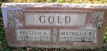 GOLD, PRESTON A. - Scott County, Iowa | PRESTON A. GOLD