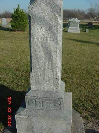 PRIES, VATER AND MUTTER - Scott County, Iowa | VATER AND MUTTER PRIES