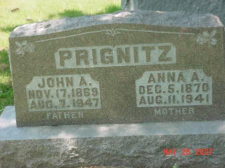 PRIGNITZ, ANNA A - Scott County, Iowa | ANNA A PRIGNITZ