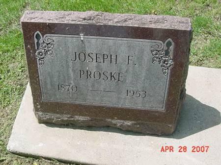 PROSKE, JOSEPH F - Scott County, Iowa | JOSEPH F PROSKE
