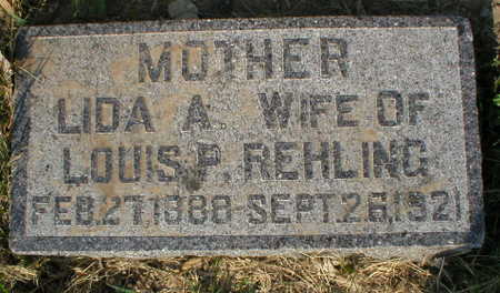 REHLING, LIDA A. - Scott County, Iowa | LIDA A. REHLING