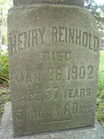 REINHOLD, HENRY - Scott County, Iowa | HENRY REINHOLD