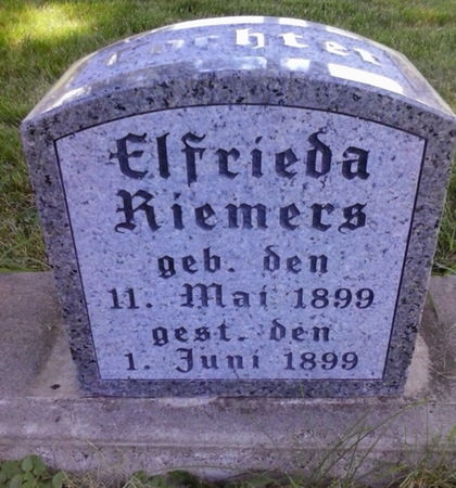 RIEMERS, ELFRIEDA - Scott County, Iowa   ELFRIEDA RIEMERS