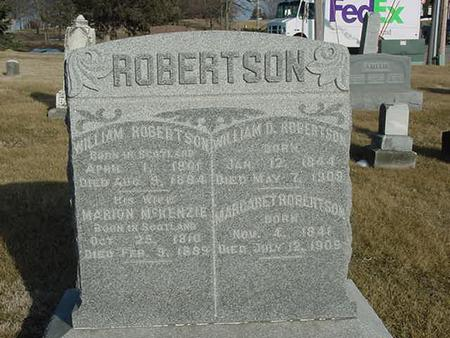 ROBERTSON, WILLIAM - Scott County, Iowa | WILLIAM ROBERTSON