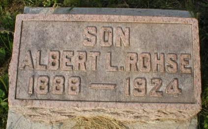 ROHSE, ALBERT L - Scott County, Iowa   ALBERT L ROHSE