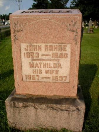 ROHSE, MATHILDA - Scott County, Iowa | MATHILDA ROHSE