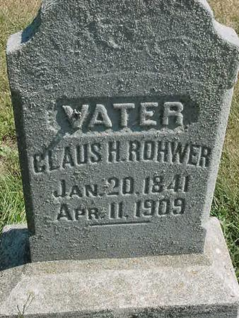 ROHWER, CLAUS H - Scott County, Iowa | CLAUS H ROHWER