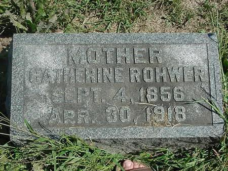 ROHWER, CATHERINE - Scott County, Iowa | CATHERINE ROHWER
