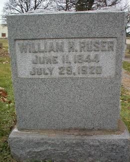 RUSER, WILLIAM - Scott County, Iowa   WILLIAM RUSER