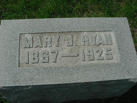 RYAN, MARY J - Scott County, Iowa   MARY J RYAN