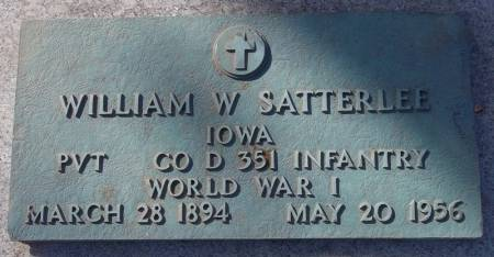 SATTERLEE, WILLIAM W. - Scott County, Iowa | WILLIAM W. SATTERLEE