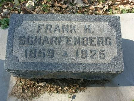 SCHARFENBERG, FRANK H. - Scott County, Iowa | FRANK H. SCHARFENBERG