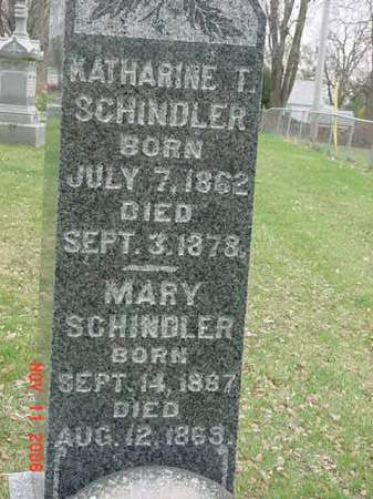 SCHINDLER, MARY - Scott County, Iowa | MARY SCHINDLER