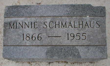 SCHMALHAUS, MINNIE - Scott County, Iowa | MINNIE SCHMALHAUS