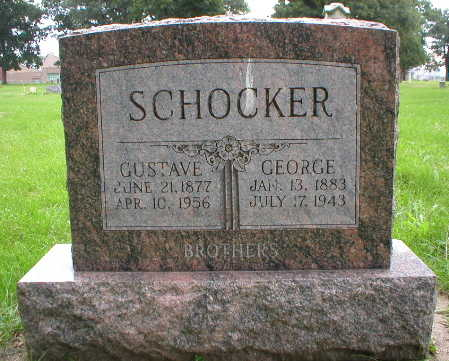 SCHOCKER, GUSTAVE - Scott County, Iowa | GUSTAVE SCHOCKER