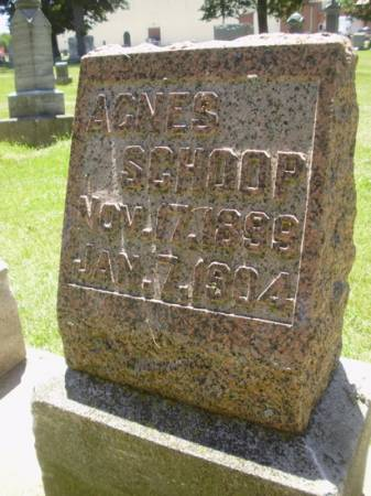 SCHOOP, AGNES - Scott County, Iowa | AGNES SCHOOP