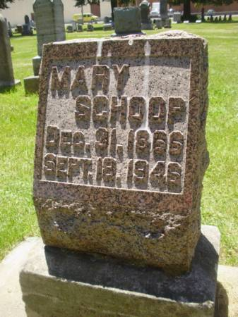 SCHOOP, MARY - Scott County, Iowa | MARY SCHOOP