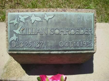 SCHROEDER, LILLIAN - Scott County, Iowa   LILLIAN SCHROEDER
