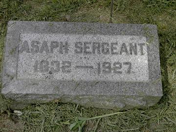 SERGEANT, ASAPH - Scott County, Iowa   ASAPH SERGEANT
