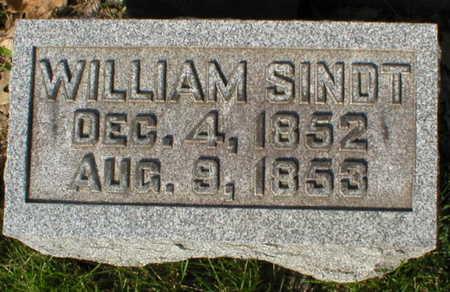 SINDT, WILLIAM - Scott County, Iowa   WILLIAM SINDT