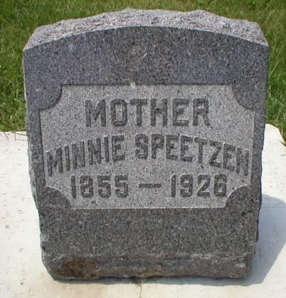 SPEETZEN, MINNIE - Scott County, Iowa | MINNIE SPEETZEN
