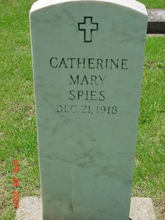SPIES, CATHERINE MARY - Scott County, Iowa   CATHERINE MARY SPIES