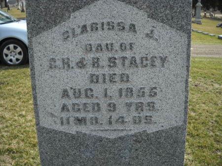 STACEY, CLARISSA   J - Scott County, Iowa   CLARISSA   J STACEY