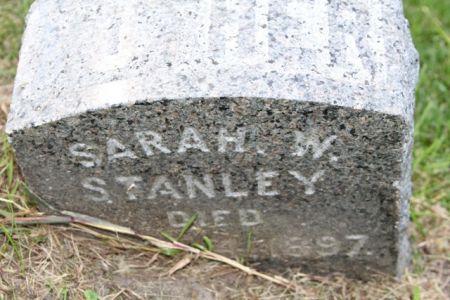 STANLEY, SARAH W. - Scott County, Iowa   SARAH W. STANLEY
