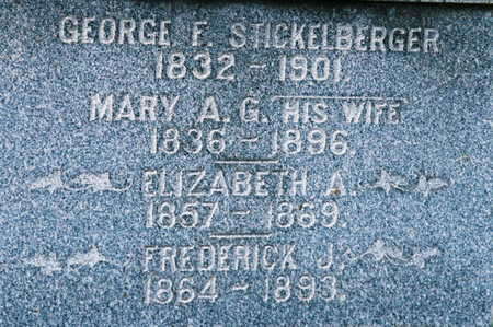 STICKELBERGER, MARY A. G. - Scott County, Iowa | MARY A. G. STICKELBERGER