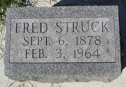 STRUCK, FRED - Scott County, Iowa | FRED STRUCK