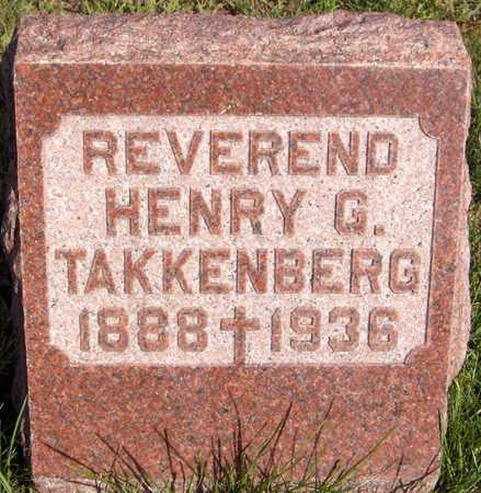 TAKKENBERG, REV. HENRY - Scott County, Iowa | REV. HENRY TAKKENBERG