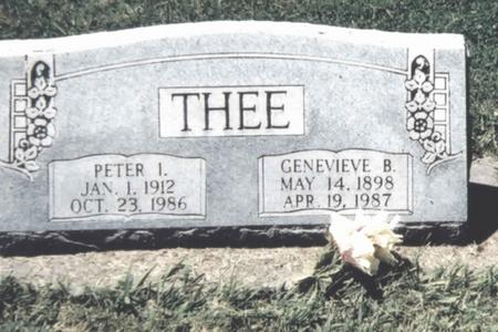 THEE, GENEVIEVE B. - Scott County, Iowa | GENEVIEVE B. THEE