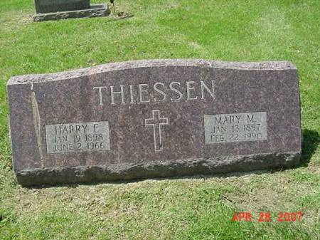 THIESSEN, HARRY F - Scott County, Iowa | HARRY F THIESSEN