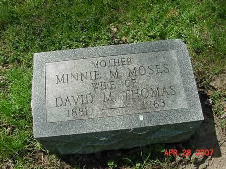 THOMAS, MINNIE M - Scott County, Iowa | MINNIE M THOMAS