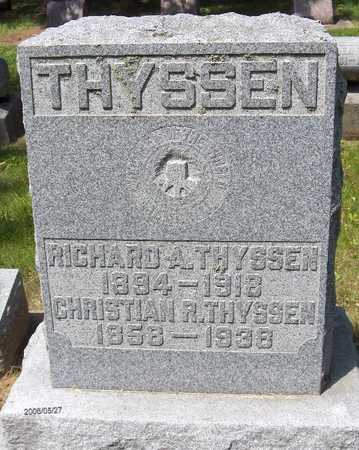 THYSSEN, RICHARD A. - Scott County, Iowa | RICHARD A. THYSSEN